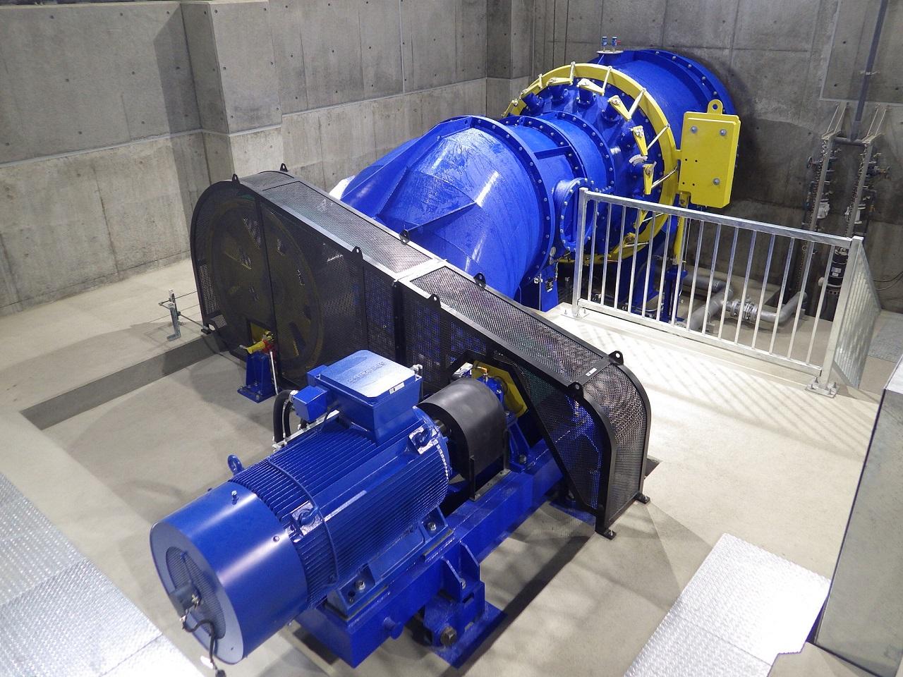 当麻永山用水農業水利事業 導水幹線用水路小水力発電設備建設工事