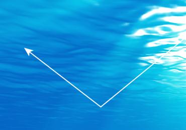 水道メーター指針の回転を光で検出